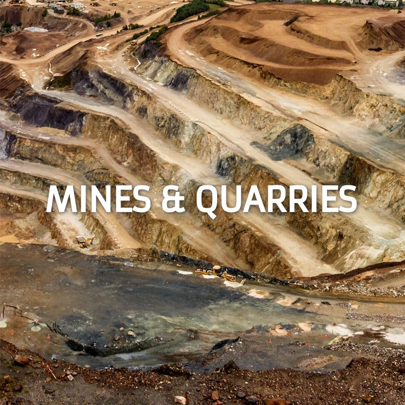 Professional Drones for Industry Mines and Quarries