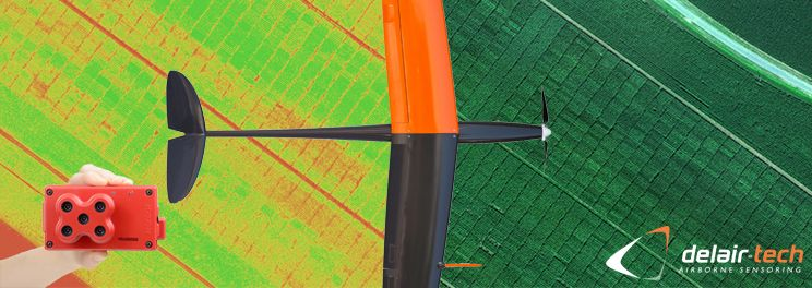 Delair-Tech uses 5 bands sensor for agriculture Micansense