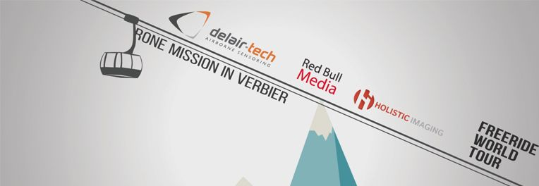 Delair6Tech have done a mission for the freeride world tour and Red Bull