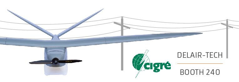 Delair-Tech power industry for UAVs at Cigre