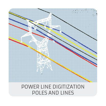 Powerline level 2 : poles and lines digitization