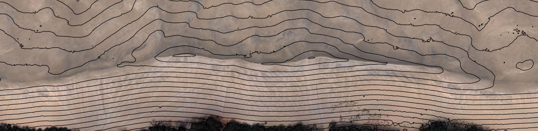 Elevation profiles and contour lines by Delair-Tech UAVs drones