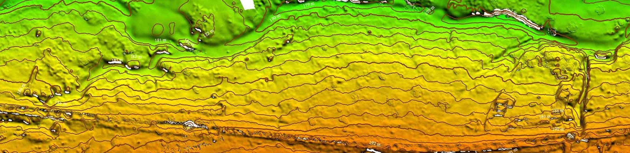 Long range drones elevation profiles