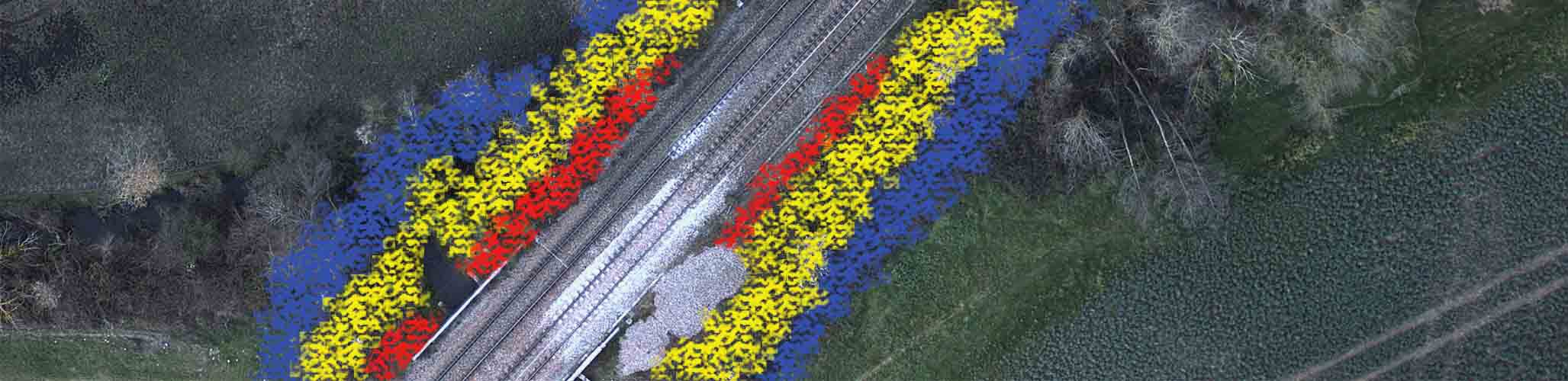 Railways and Roads industry vegetation encroachment by UAVs