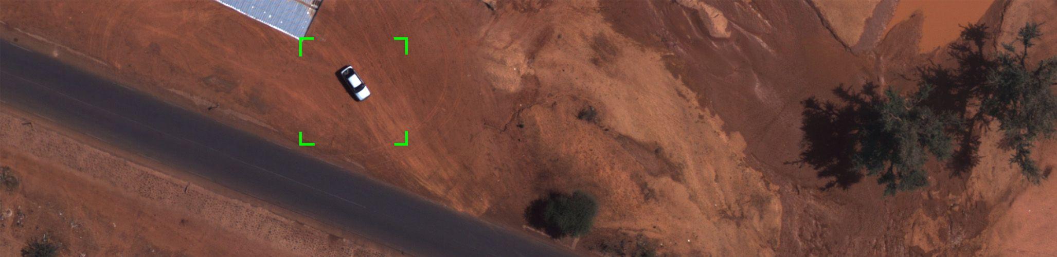 Long range UAVs vehicle detection