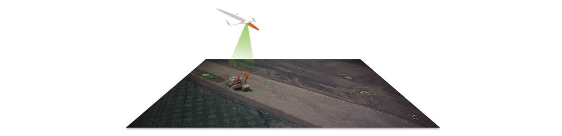 Delair-Tech long range UAVs excavator detection
