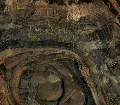 Delair-Tech contour lines for mining industry