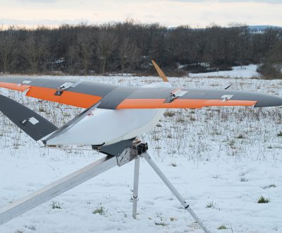 DT26 X Delair-Tech UAV take off on the catapult