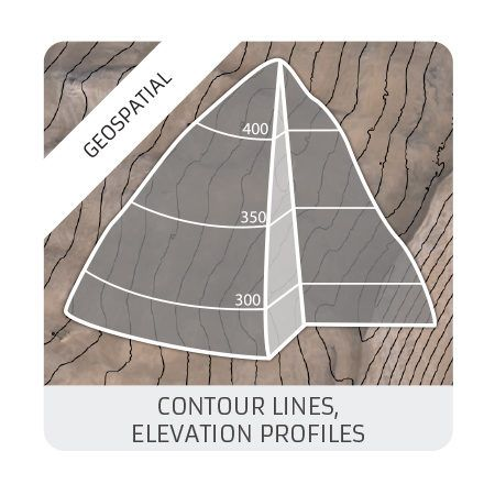 Contour lines : elevation profiles (geomatics)
