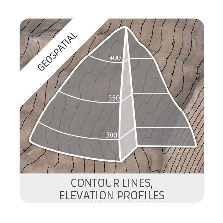 Contour lines : elevation profiles (geomatics)