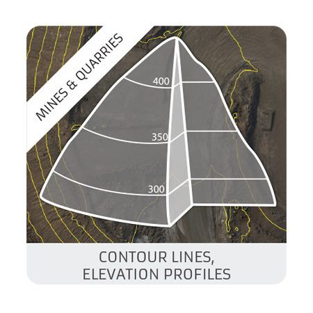 Contour lines : elevation profiles