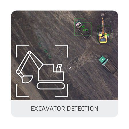 Excavators detection