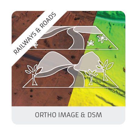 Ortho & DSM (railways & roads)