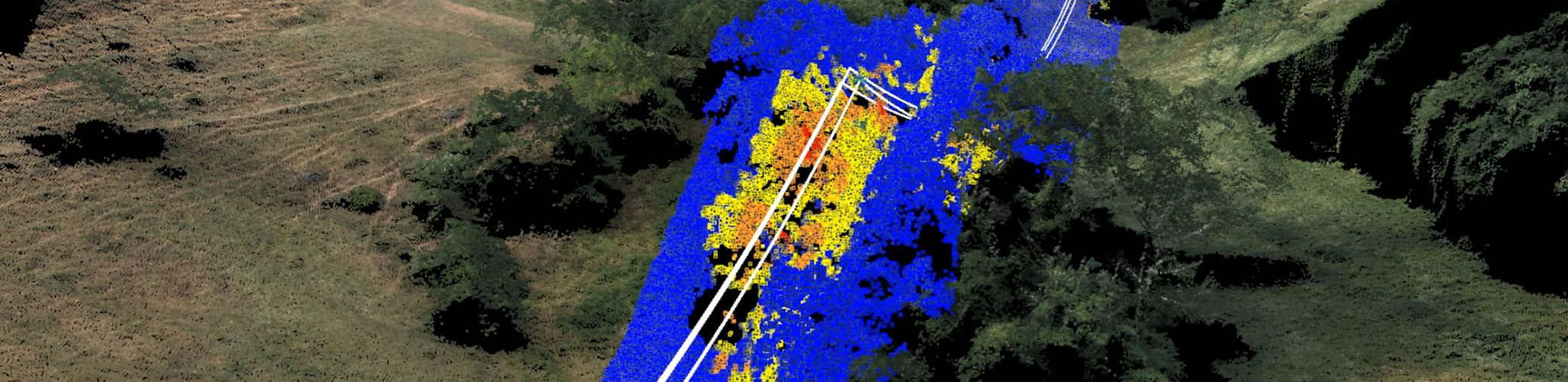 Delair-Tech provides drones and UAVs for vegetation encroachment for powerlines