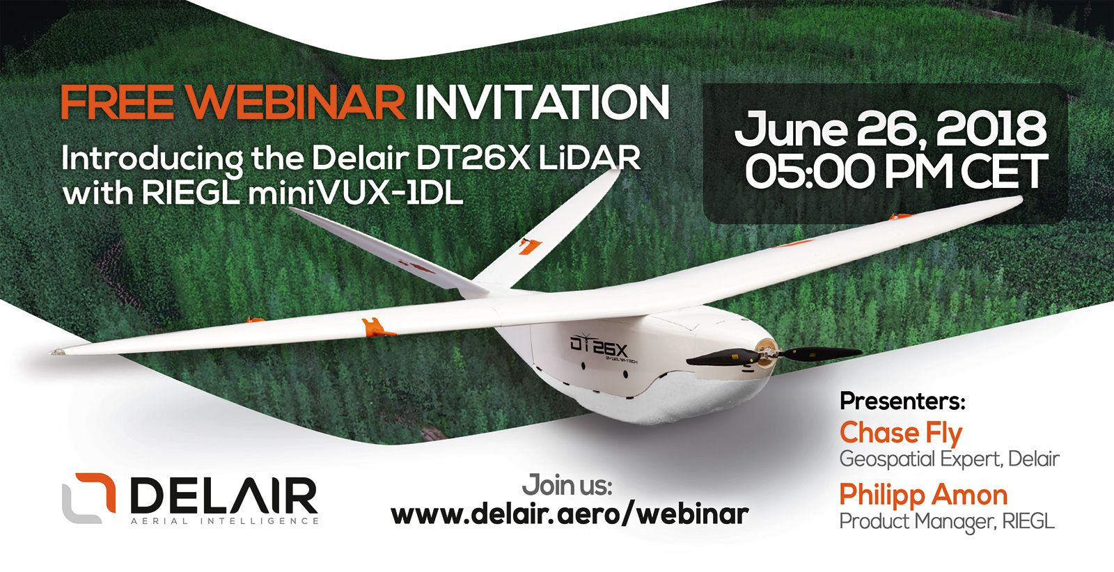 Register to watch the live webinar: Introducing the Delair DT26X LiDAR