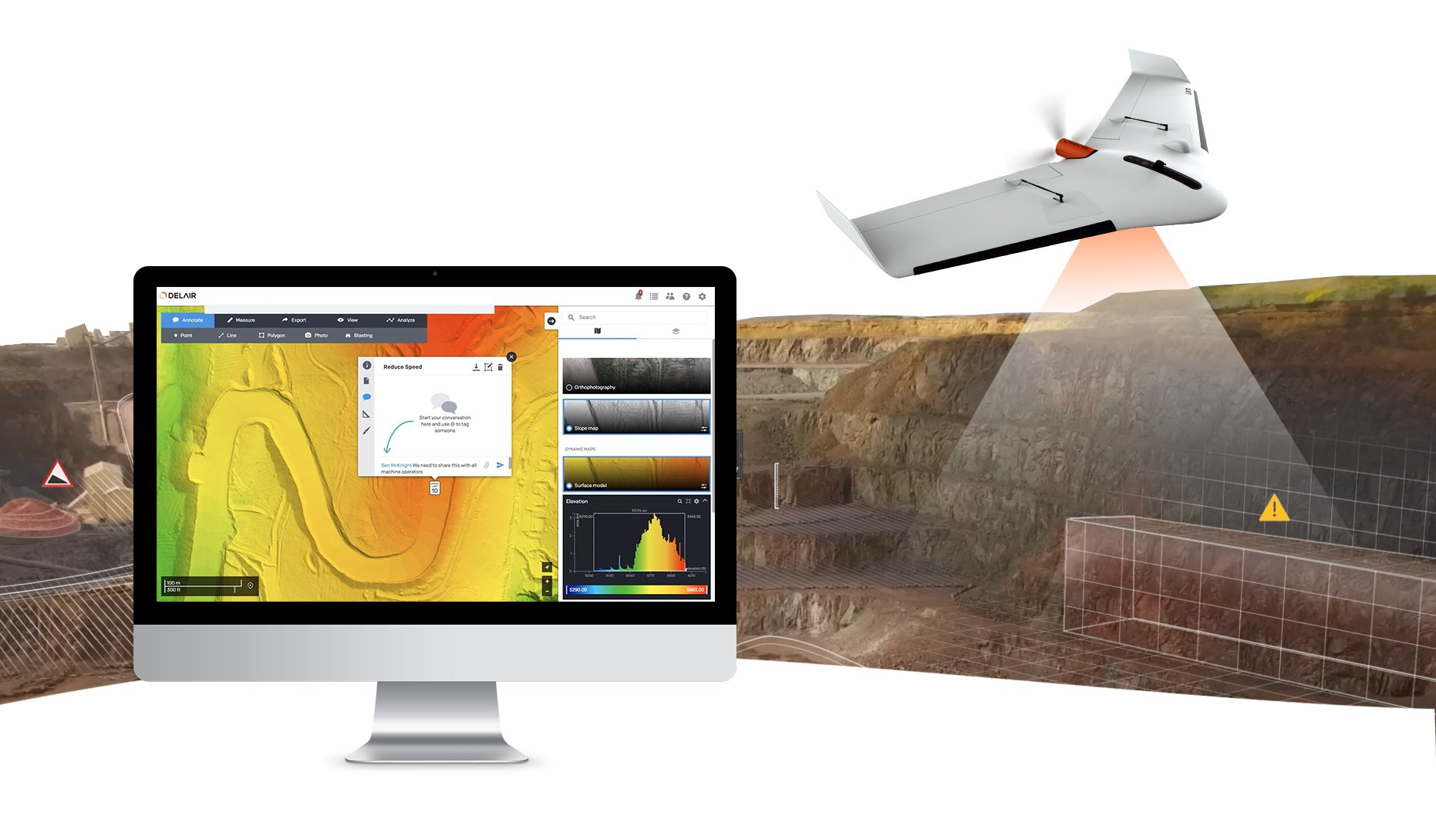 Drone Data Processing Service for Mining and Quarrying