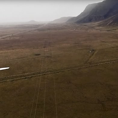 First in Iceland : LIDAR acquisition by UAV & Power Lines inspections