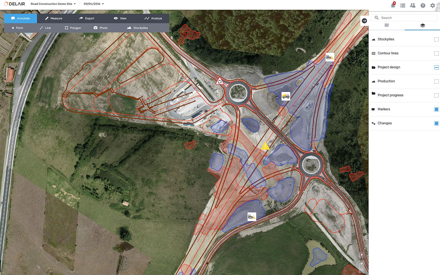 Aerial Data Solutions for Construction Work