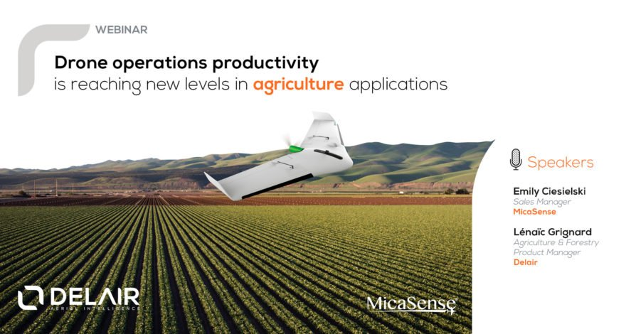 drone operation productivity in agriculture with drones