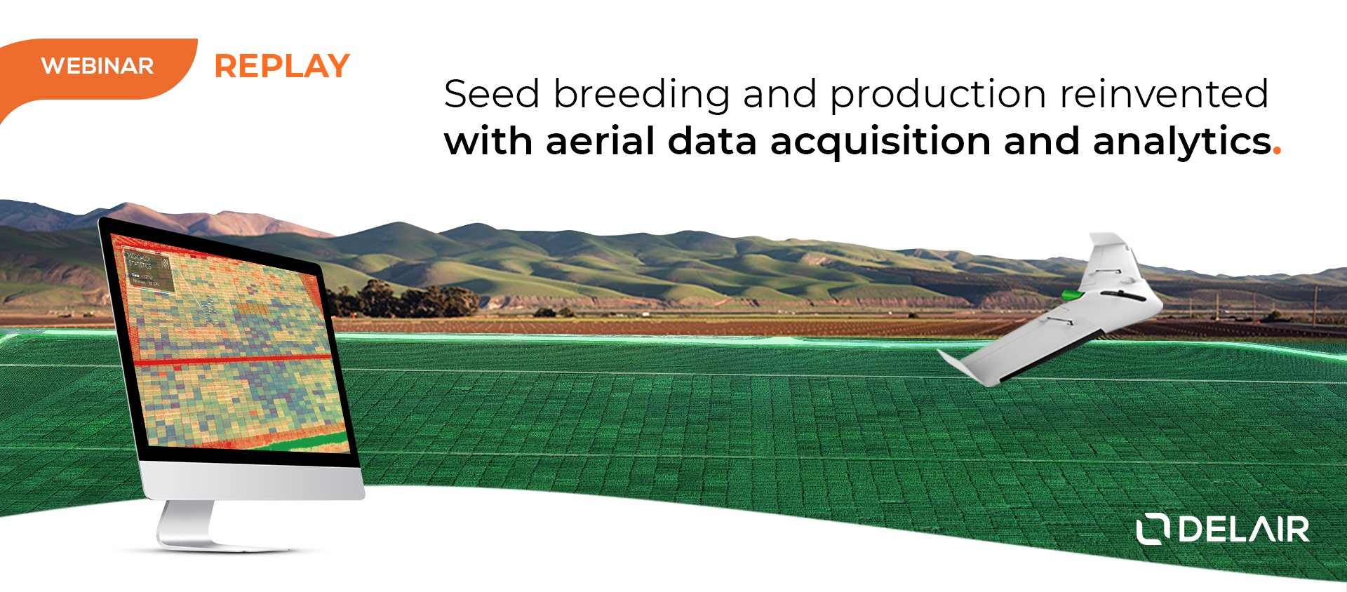 Seed breeding and production with aerial data drone and cloud computing drone data analytics
