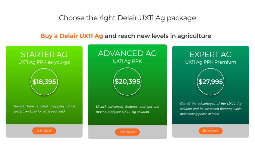 Delair UX11 Ag Pricing - Choose the right Delair UX11 Ag