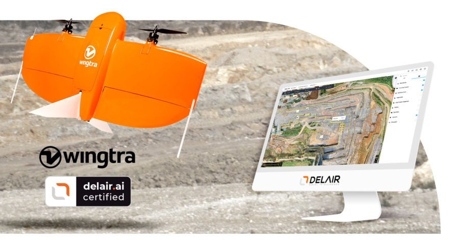 Delair and Wingtra team up for drone data collection and analytics