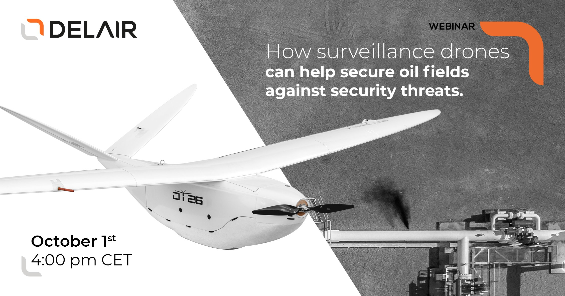 How can surveillance drones help secure oil fields against security threats?